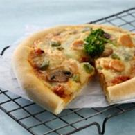pizza ayam topping jamur