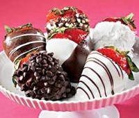 strawberry cokelat