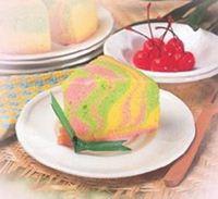 bolu kukus warna pelangi