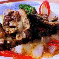 tumis ampela ayam dengan saus tiram